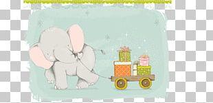 Paper Cartoon Elephant Illustration PNG