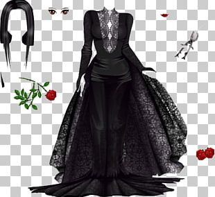 Costume Design Gown Black M PNG