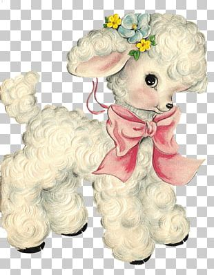 Sheep Paper Vintage Clothing Decal PNG