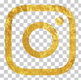 Social Media Gold Logo Brand Instagram PNG