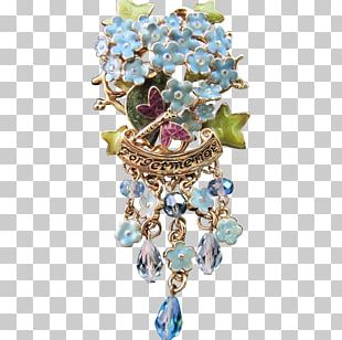 Turquoise Earring Body Jewellery Brooch PNG