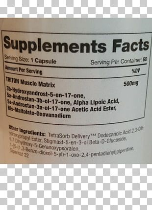 Nutrition Facts Label PNG