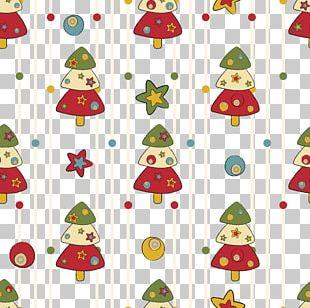 Christmas Tree Santa Claus Pattern PNG