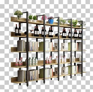 Shelf Display Stand Bookcase Furniture Display Case PNG