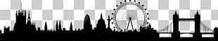 London Skyline Illustration PNG