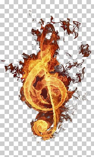Musical Note Fire Flame PNG