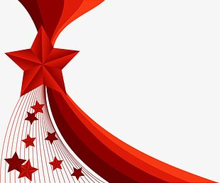 Red Star Decorative Background PNG