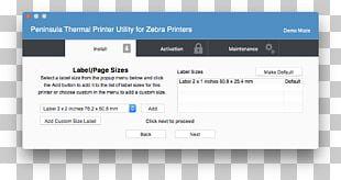 Label Printing Computer Program Textile Organization PNG