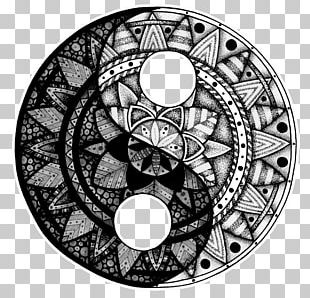 Yin And Yang Tattoo Mandala Idea Drawing PNG