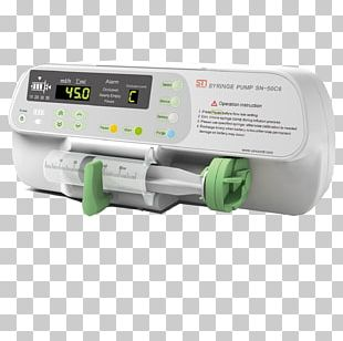Infusion Pump Syringe Driver Medical Equipment Intravenous Therapy PNG