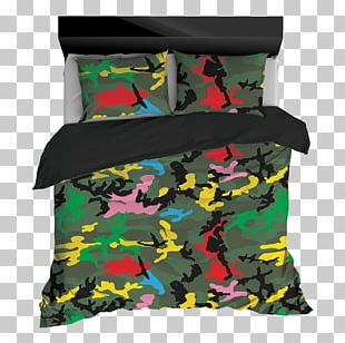 Multi-scale Camouflage Comforter U.S. Woodland Pattern PNG