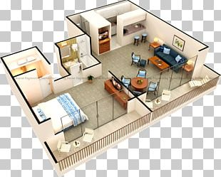 3D Floor Plan Architecture PNG