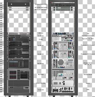 19-inch Rack Computer Network Diagram Computer Servers Microsoft Visio PNG