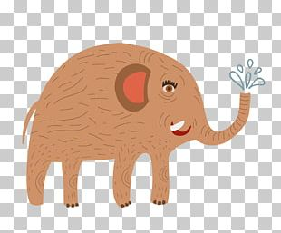 Cartoon Cattle Elephant Illustration PNG