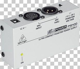 Microphone Phantom Power Power Converters Behringer Adapter PNG