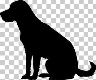 Labrador Retriever Puppy Dog Breed Silhouette PNG