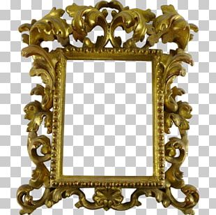 Frames Mirror Rococo Wood Carving Ornament PNG