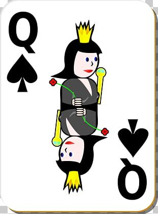 Playing Card Queen Of Spades PNG