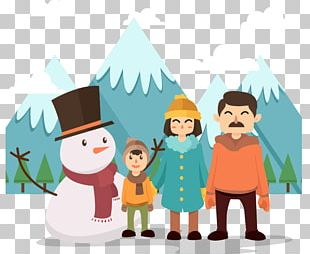 Winter Snowman PNG