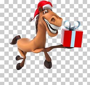 Horse New Year Santa Claus Christmas PNG