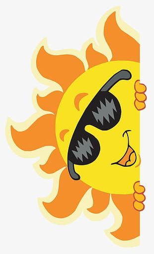 Hand-painted Cartoon Sun PNG