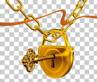 Keychain Lock Skeleton Key PNG