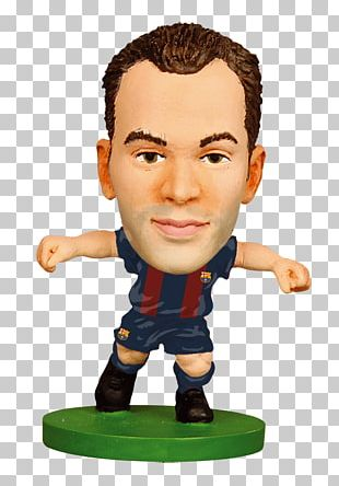 Andrés Iniesta 2015–16 FC Barcelona Season Football Player Action & Toy Figures PNG