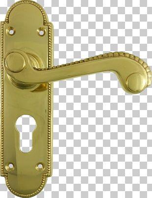 Door Handle Metal Brass Material PNG