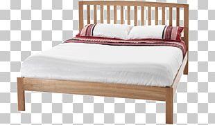 Bed Frame Oak Headboard Bedside Tables PNG