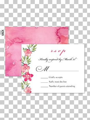 Wedding Invitation Floral Design Greeting & Note Cards RSVP PNG