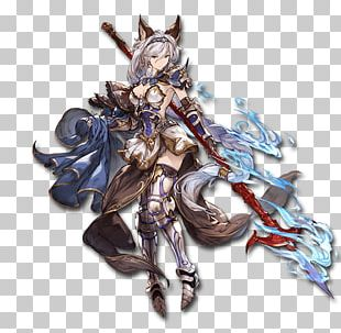Granblue Fantasy Character Model Sheet Concept Art PNG