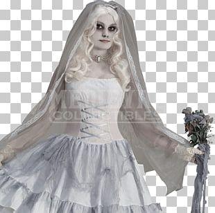 Victorian Era Halloween Costume Ghost Bride PNG