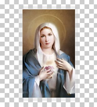 Immaculate Heart Of Mary Holy Card Prayer Ave Maria PNG