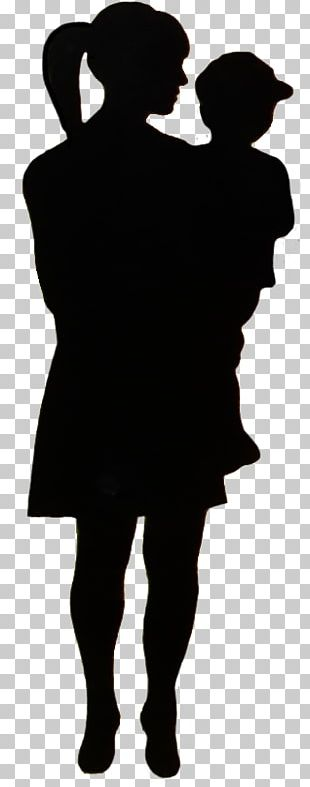 Child Silhouette Mother Woman PNG