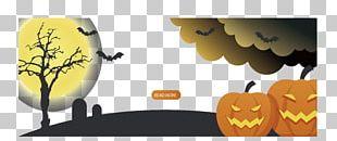 Halloween Banner Illustration PNG