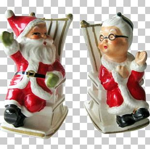 Salt & Pepper Shakers Mrs. Claus Christmas Ornament Santa Claus Christmas Day PNG