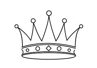 Crown Black And White Drawing PNG
