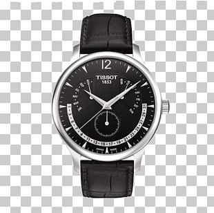 Le Locle Tissot Watch Leather Strap PNG