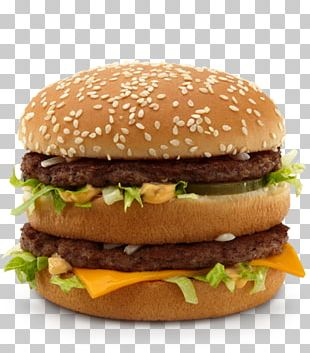 McDonald's Big Mac Hamburger Cheeseburger McDonald's Quarter Pounder French Fries PNG