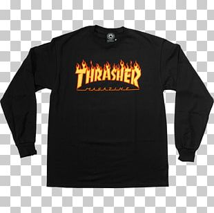 Long-sleeved T-shirt Hoodie Thrasher Presents Skate And Destroy PNG