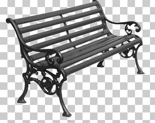 Garden Furniture Wrought Iron Bench PNG