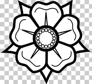 Drawing Flower Black And White PNG