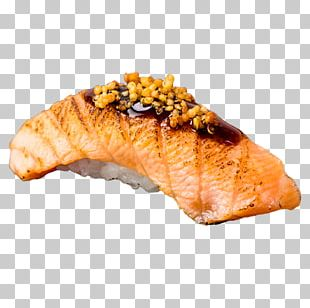 Smoked Salmon Japanese Cuisine Sushi Sashimi Onigiri PNG