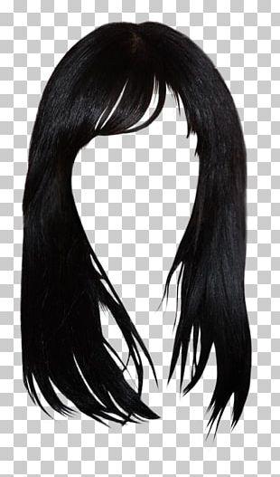 Black Hair Brown Hair Bangs Hairstyle PNG