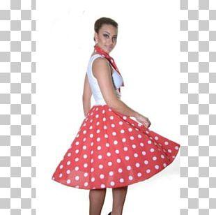 Polka Dot 1950s Poodle Skirt Costume PNG
