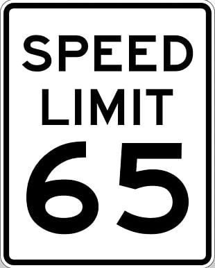 United States Speed Limit Miles Per Hour Traffic Sign PNG