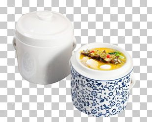 Edible Birds Nest Chinese Steamed Eggs Simmering Porcelain Ceramic PNG