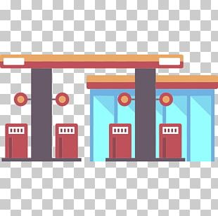 Cartoon Gas Station PNG