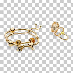 Earring Pandora Jewellery Bracelet Gold PNG