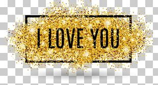 I Love You Glitter Text